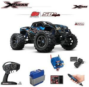 db6aab6657b Traxxas 8s X-maxx 4wd Brushless Electric Monster Truck, Blue for ...