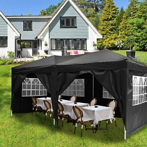 Serface Klapp Falt Pavillon 3x6m Wasserdicht Gartenzelt Fest Partyzelt UV-Schutz