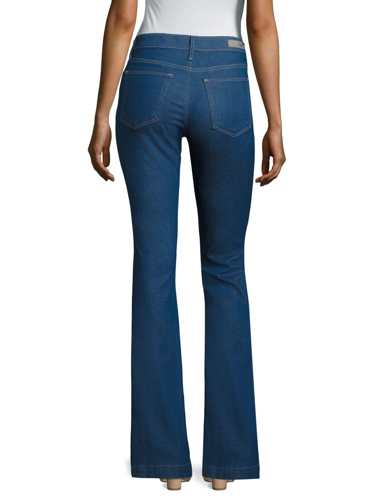 198 AG Jeans la Janis-High-Rise Flare Leg Jean en chevauchement Größe 31