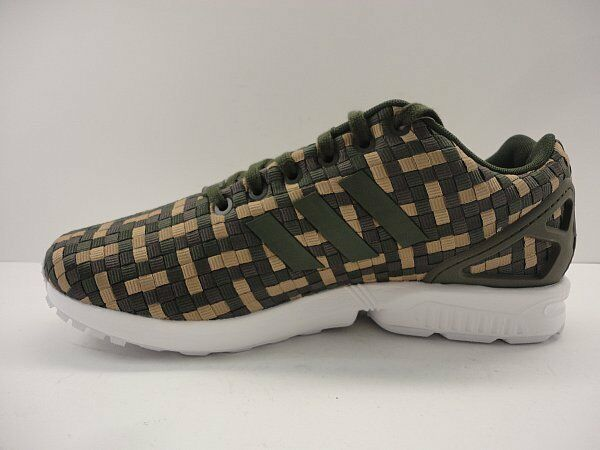 Adidas Originals Mens ZX Flux Trainers Night Cargo    verde blanco