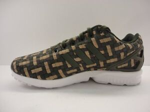cfacf069784e2 Image is loading adidas-Originals-Mens-ZX-Flux-Trainers-Night-Cargo