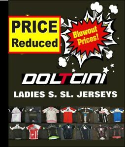 CLEARANCE-NEW-Doltcini-Ladies-Short-Sleeved-Cycling-Jersey-UK-STOCK