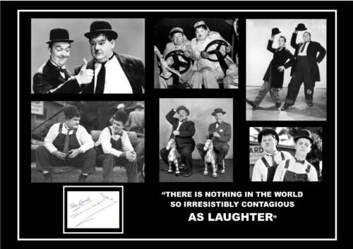 STUNNING QUALITY EDITION LAUREL /& HARDY SIGNED AUTOGRAPHED PRINT STAN /& OLLIE
