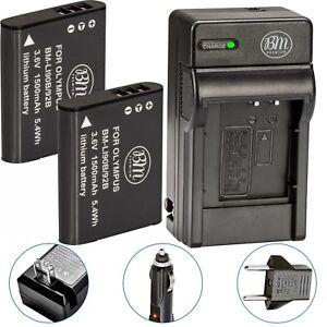 BM-LI90-LI-92B-2X-Batteries-amp-Charger-for-Olympus-Tough-TG-Tracker-SH2-SH50-SH60