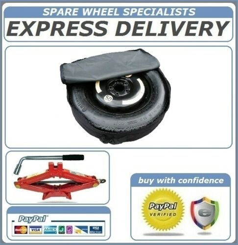 """BMW 5 SERIES  2003-2016 17/"""" SPACE SAVER SPARE WHEEL AND TOOL KIT /& COVER BAG"""