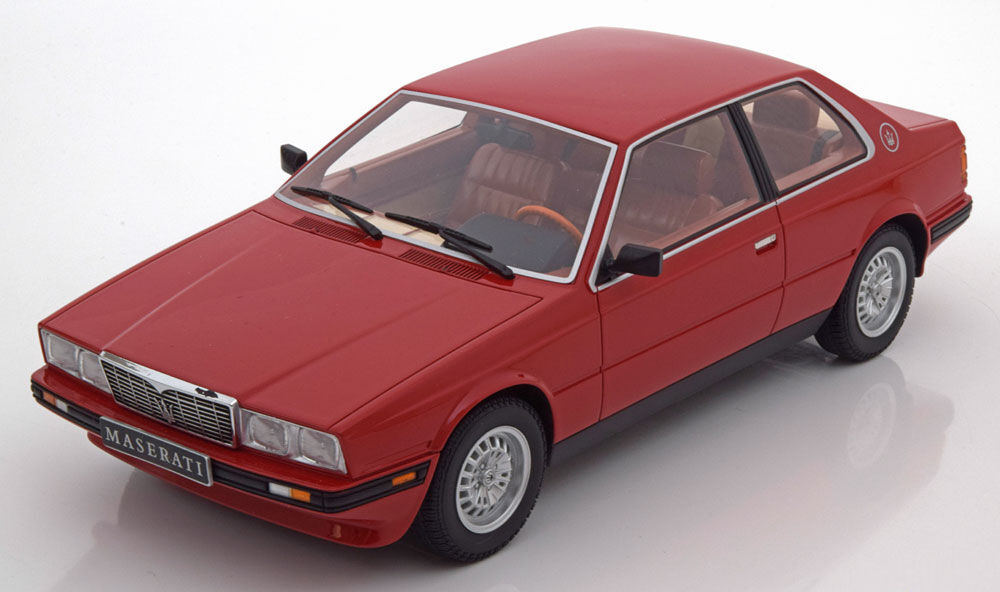 Minichamps 1982 MASERATI BITORBO COUPE Röd färg 1  18 skala Brand New