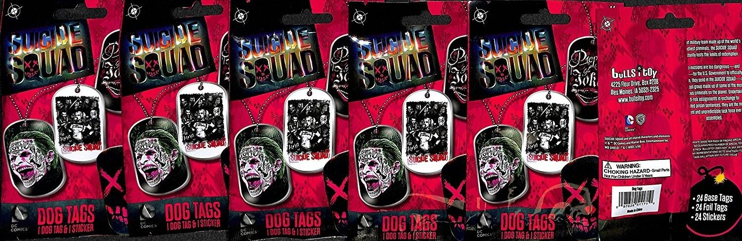 Suicide Squad Dog Tag 24 Sealed packs DC Comics