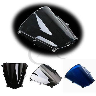 Black Dual Bubble PMMA Windshield Windscreen for Honda CBR1000RR 2004-2007 06