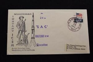 Espacio-Cubierta-1974-Mano-Cancelado-Sac-24TH-Minuteman-II-M-Booster-Launch-Vafb