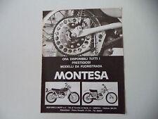 advertising Pubblicità 1971 MOTO MONTESA KING SCORPION 250/CAPPRA
