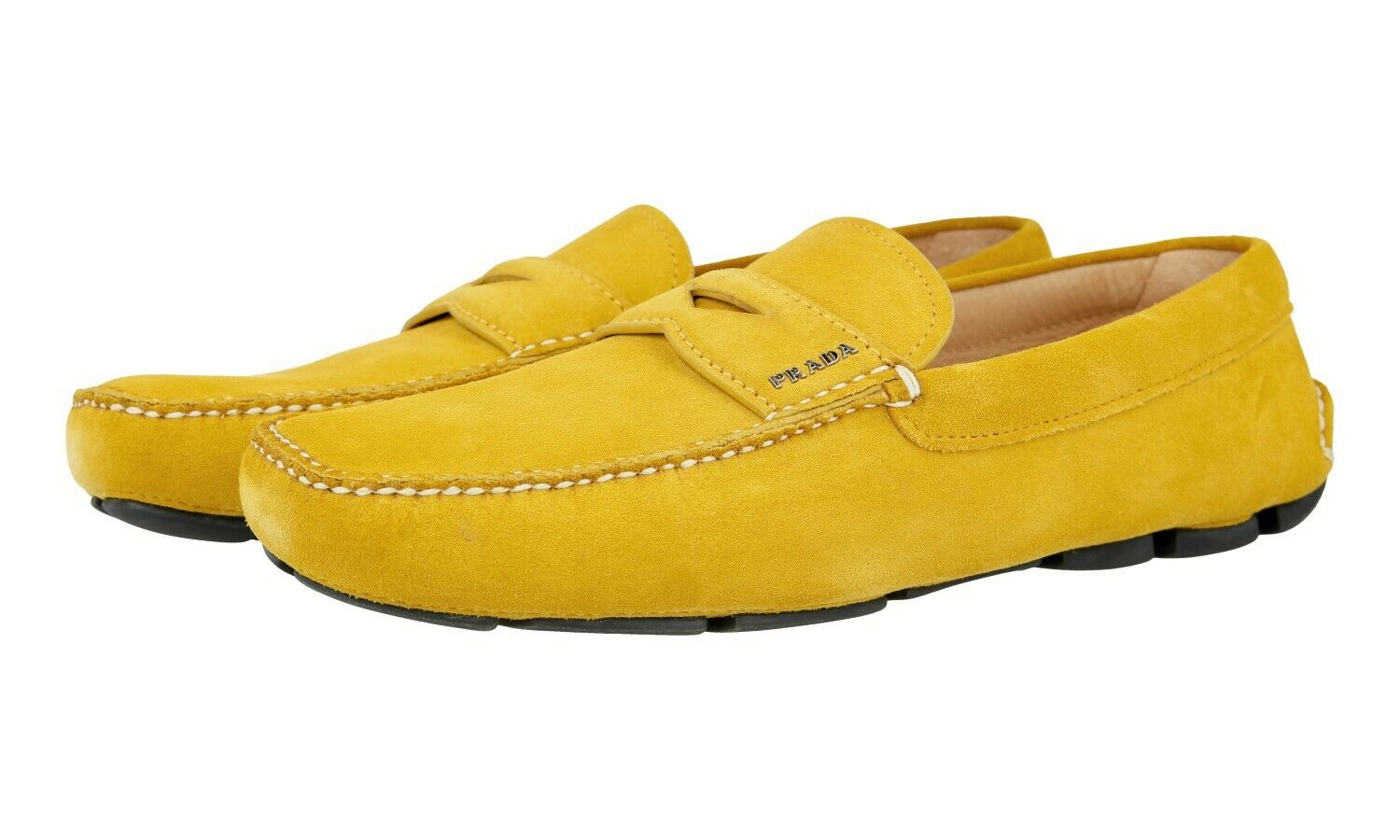 39e648c51e5 AUTH LUXURY PRADA PENNY LOAFER SHOES 2DD001 SUEDE SOLEIL 10 44 44