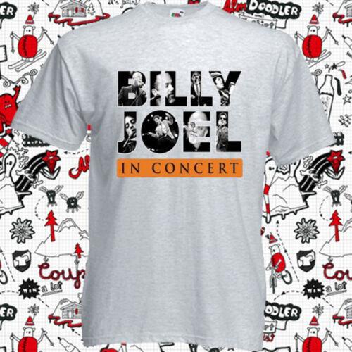 New Billy Joel In Concert Tour 2017 Logo Men/'s Grey T-Shirt Size S-3XL