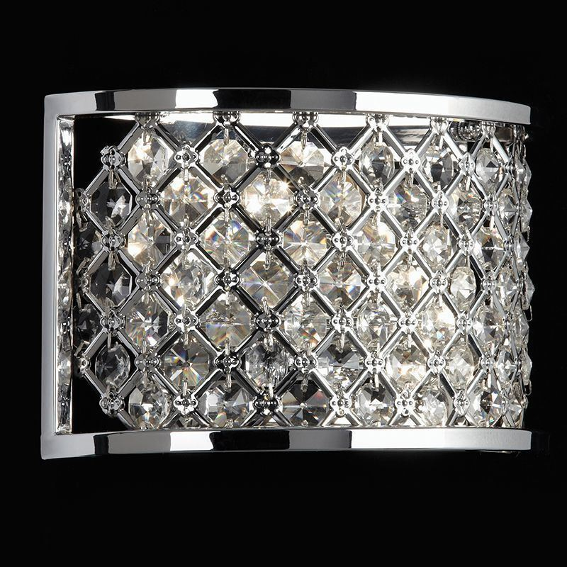 Endon Lighting Lighting Lighting Hudson 2lt wall 60W chrome plate HUDSON-2WBCH | Authentique