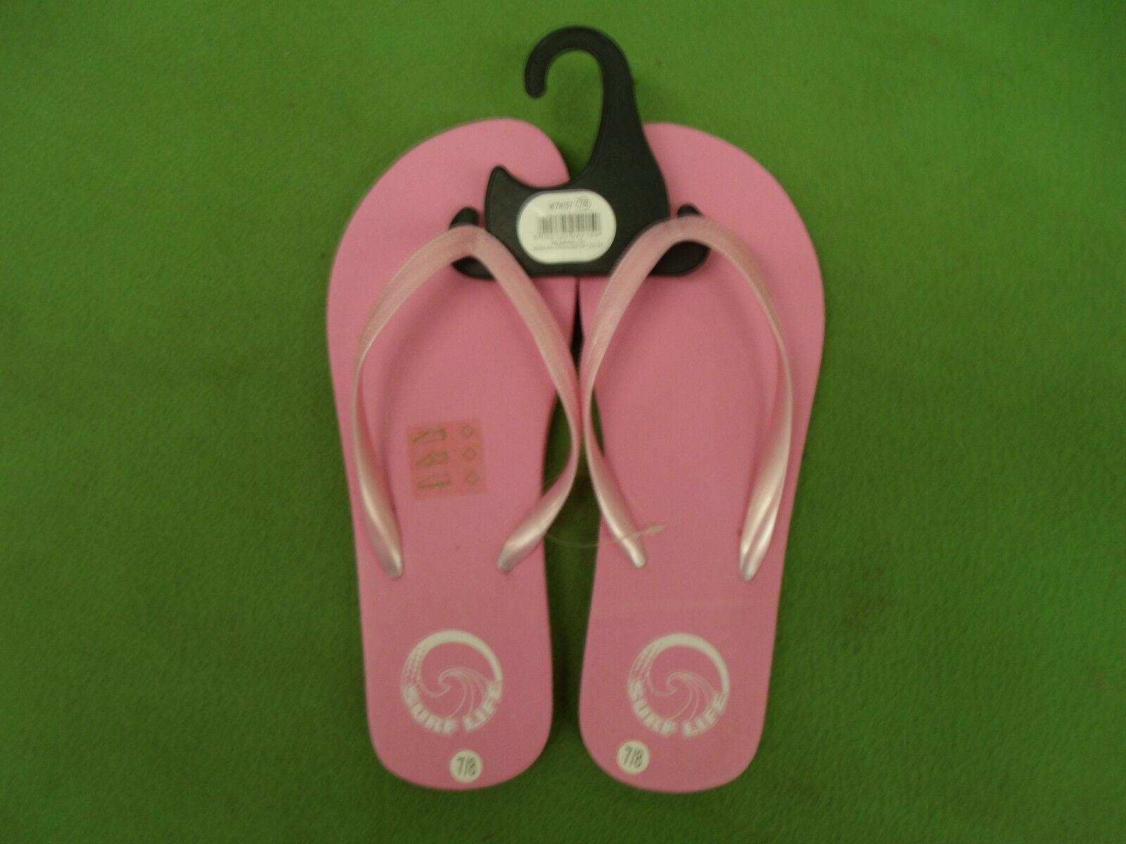 LADIES GIRLS Flip Pink Flip GIRLS Flop Size 7/8 a443c6