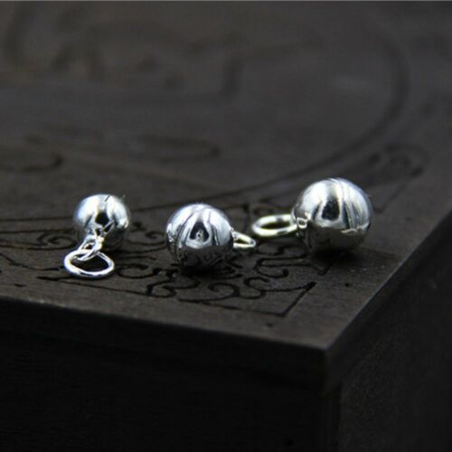 #1 Nouveau Argent Sterling 925 Lovely 5 mm Bell Charms Pendentif 10pcs//Lot