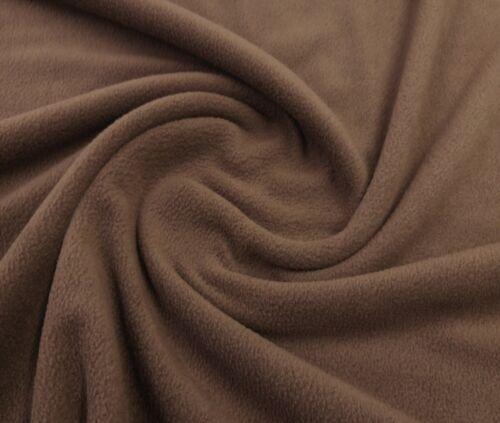 Polar Fleece Anti Pill Plain Coloured Craft Pet Bed Blanket Fabric 150cm Wide