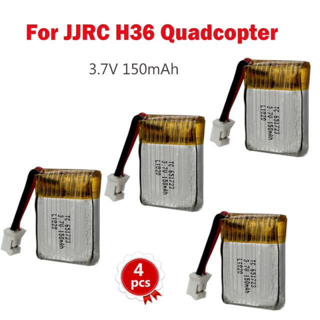 4x 3 7v 150mah Lipo Battery For Jjrc H36 Rc Headless 360 Flip