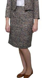 Tweed-Effect-Grey-Skirt