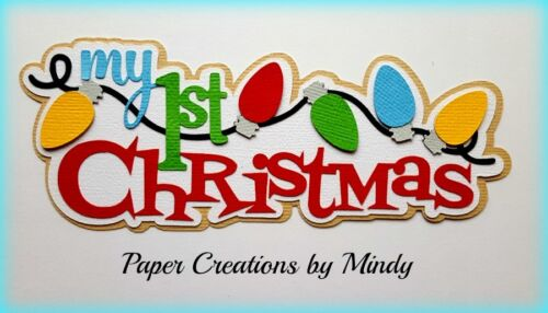 CRAFTECAFE MINDY FIRST CHRISTMAS BABY premade paper piecing TITLE scrapbook page