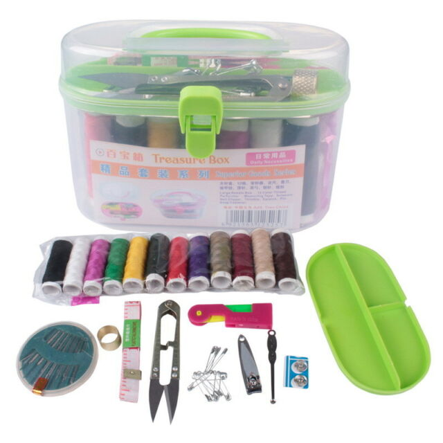 Portable Thorn Rust Sewing Kit Needle and thread hand sewing Box  M
