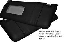 BLACK STITCH FITS BMW 5 SERIES E39 1995-2003 2X SUN VISORS LEATHER COVERS ONLY