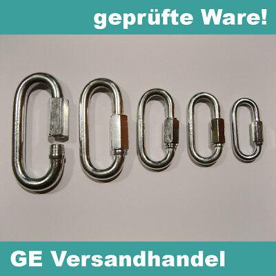 Kettenverbinder Kettenschnellverschluss Kettennotglied galvanisch verzinkt Stahl