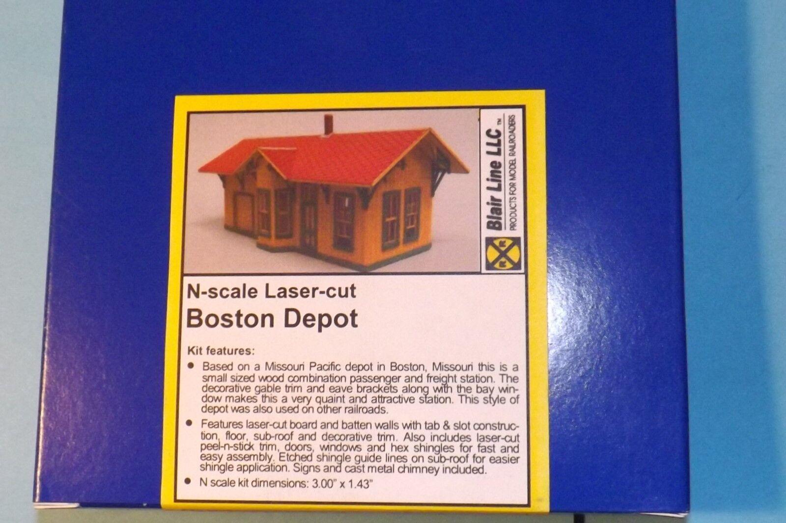 BOSTON DEPOT  BY BLAIR LINE N SCALE