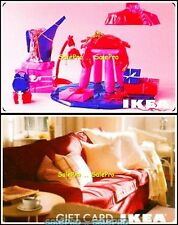 2x IKEA CANADA BARBIE ROOM PINK CUSHIONS COVERS RARE COLLECTIBLE GIFT CARD LOT