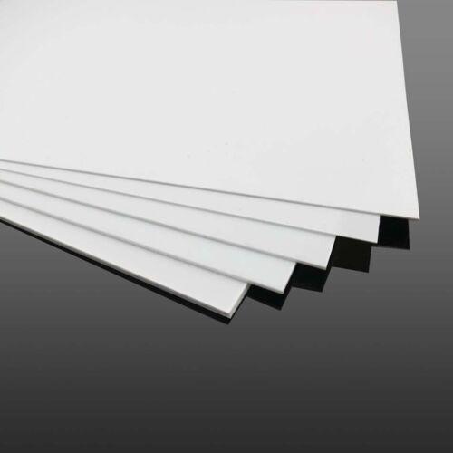 1pcs White ABS Plastic Flat Sheet Plate DIY Building Model Material Multi Sizes