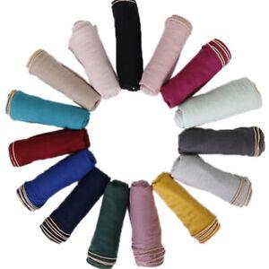 Women-Ladies-Scarf-Golden-Beads-Cotton-Muslim-Muffler-Hijab-Wraps-Shawl-Scarves