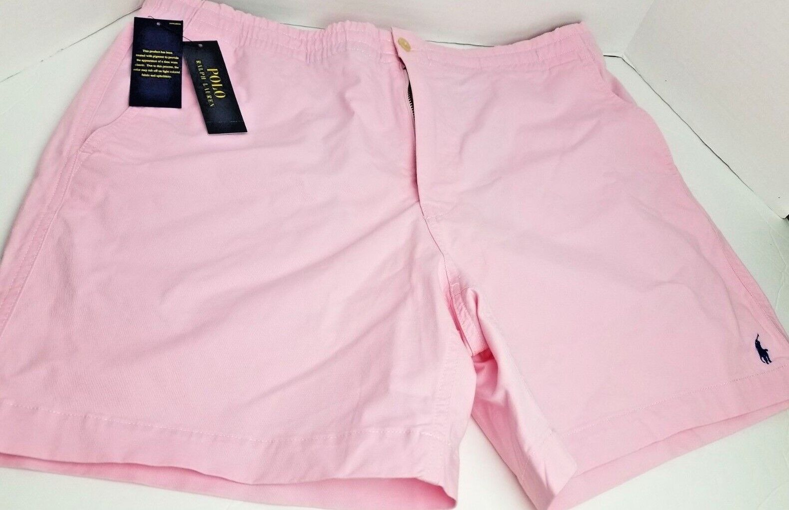RALPH LAUREN POLO PINK XL CLASSIC FIT DRAW STRING STRETCH SHORTS MENS NWT NEW