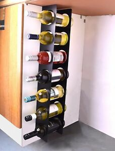 Kitchen Under Cabinet Space Filler Wine Rack 7 Bottle Holder Unit Shelf Modern Ebay