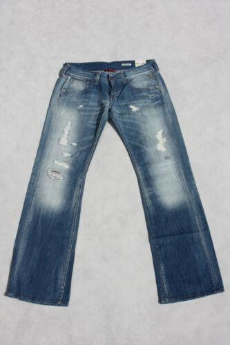 NUOVO Donna Jeans REPLAY wv531 211 572 011 Swenfani, cricche, Denim, 29 31 32 33
