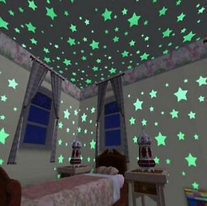 100pcs-3D-Star-Wall-Stickers-Glow-In-The-Dark-Home-Decor-Kids-Room-Bedroom-Mural