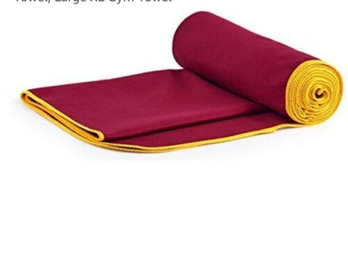 80 x 40 /& 160 x 80cm Fit-Flip Microfibre Wine Red Sports /& Travel Towels 2 Pack