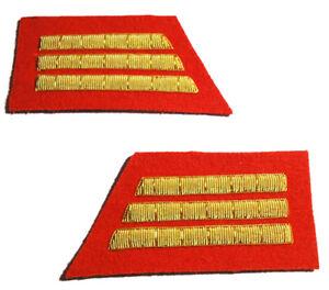 American Civil War Confederate Red Artillery Captains Collar Insignia Badges New