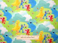 Sesame Street Character Elmo Cookie Bird Oscar Scenic Cotton Fabric Spx - Yard