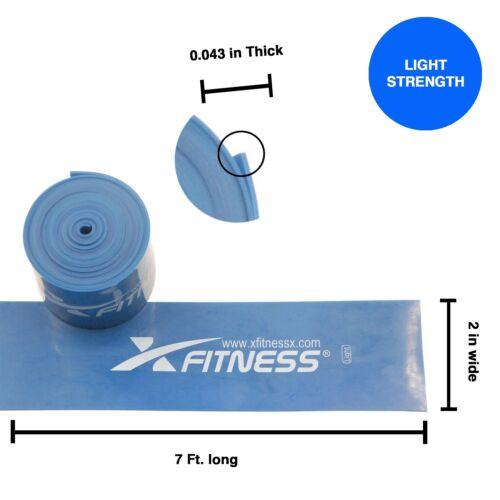 Set of 2 Light /& Medium xFitness Compression Floss Band 7' Strap For CrossFit