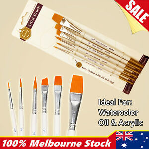Artist Paint Brushes Set Kit Watercolour Acrylic Oil Painting Face Craft