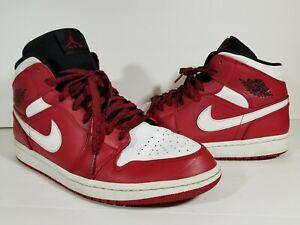 cozy fresh undefeated x online retailer Nike Air Jordan 1 Mid Retro Gym Red White Black Chicago 554724-605 ...