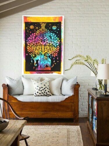 5 Pcs Lot Indian Tie dye Multi Mandala Poster Home Decor Wall Hanging Tapestry