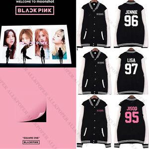 Kpop Blackpink Baseball Uniform Coat Square One Varsity Jacket