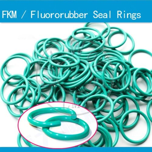 100 x FKM Fluororubber O-Ring Seal High Pressure Gasket WD 1.0 OD 4//5//6//7//8//9mm