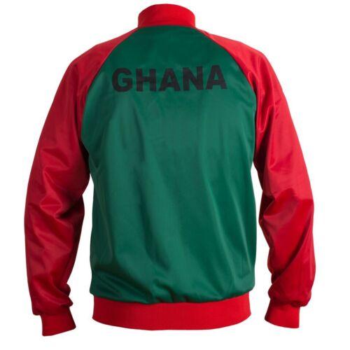 Ghana 1980/'s Retro Football Jacket Tracksuit Zipped Jumper Man Top