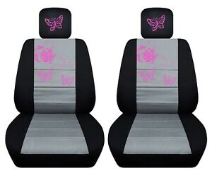 Fits-2006-2012Toyota-RAV4-front-set-car-seat-covers-butterfly-design