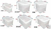 Clear Plastic Storage Box Boxes With Lids UK BRITISH MADE Home Office Stackable