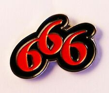 666 Number of the Beast Enamel & Metal Lapel / Pin Badge - 24mm BRAND NEW