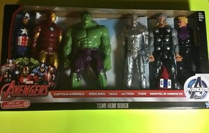 Marvel-Avenger-Captain-America-Iron-Man-Hulk-Ultron-Thor-Lot-6