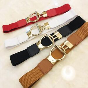 Women-Round-Buckle-Belts-Female-Without-Pin-PU-Leather-Strap-Waist-Bands-Chic