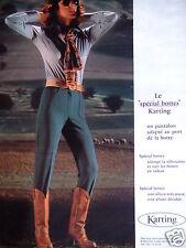 PUBLICITÉ 1978 LE SPÉCIAL BOTTES KARTING UN PANTALON ADAPTÉ - ADVERTISING